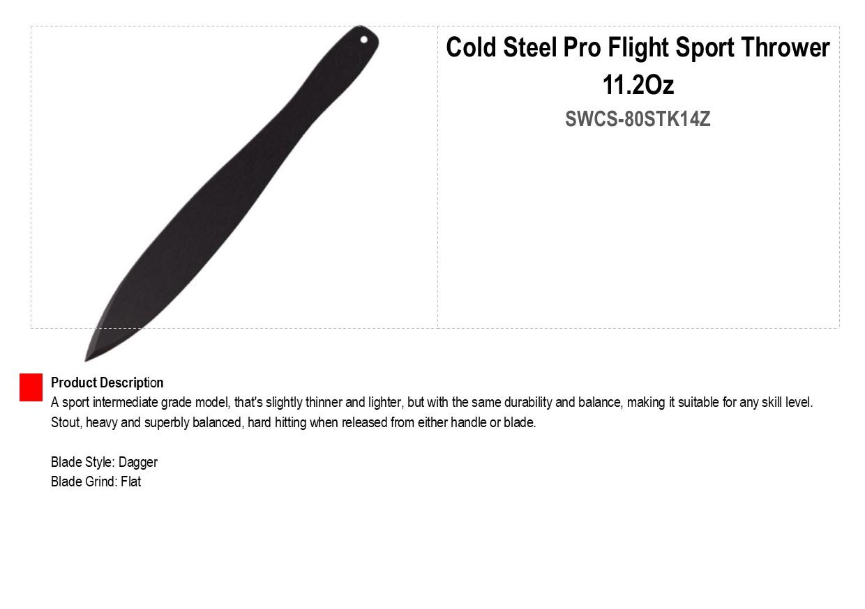 Cold Steel Pro Flight Sport Thrower 11.2Oz