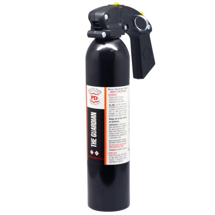 Guardian Self Defence Titan Pistol Grip Pepper Spray - High Intensity Fog w/Pull Pin Safety 20Oz
