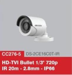 """HD-TVI Bullet 1/3"""" 720p IR 20m - 2.8mm - IP66"""