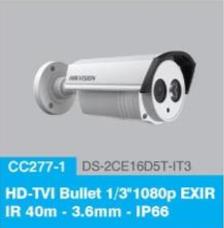 "HD-TVI Bullet 1/3"" 1080p EXIR IR 40m-3.6mm - IP66"