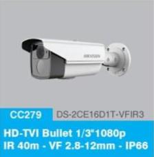 "HD-TVI Bullet 1/3"" 1080p IR 40m - VF 2.8-12mm - IP66"