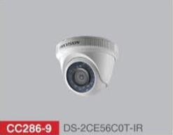 "HD-TVI Dome 1/3"" 720p IR 20m - 3.6mm - IP66 with CVBS"